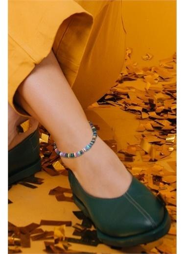 Artikel Soft Renkli Taş Boncuk Detaylı Halhal Renksiz